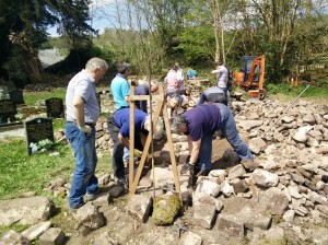 Ystradfelte dry stone walling in the Brecon Beacons