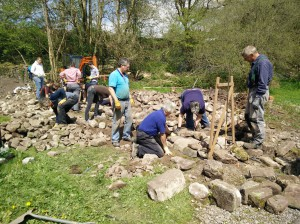 dry stone walling in Wales